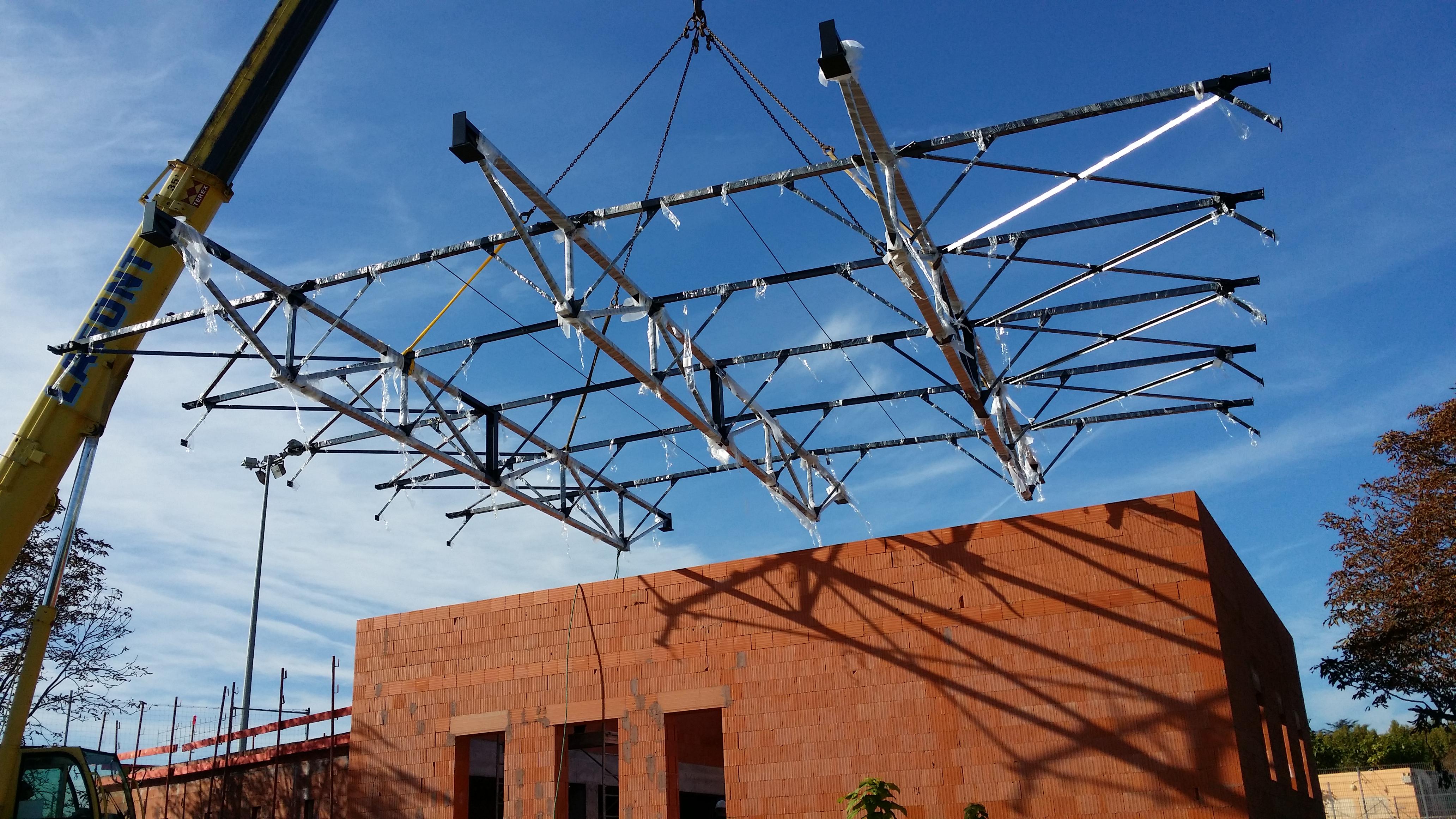 charpente mtallique ville daix en provence stade georges carcasonnes - Charpente Metallique Maison Individuelle
